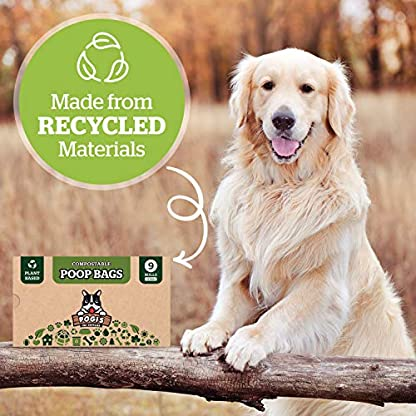Pogi's Compostable Poop Bags - 9 Rolls (135 Bags) - Leak-Proof, Extra-Large, Plant-based, ASTM D6400 Certified Home Compostable & Biodegradable Waste Bags for Dogs 6