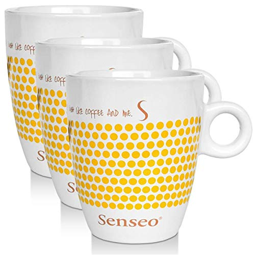 3 x Senseo Design Fussball EM Sonderedition gelb Porzellantasse Kaffeetasse 160 ml
