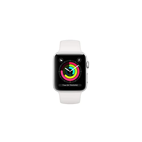 5f389f103 Apple Watch Series 3 38mm GPS + Cellular Silver Aluminum Case with White Sport  Band (