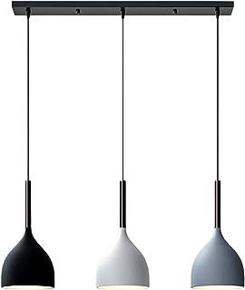 LFsem Nordique Moderne Suspension Lampe en Métal Plafonnier 3 Têtes Luminaire Suspension E27 Loft Salle à manger Restauran...