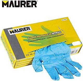 Maurer 15030634 Guantes Desechable Nitrilo Talla 7 M Caja 100 Unidades