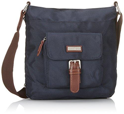 TOM TAILOR Umhängetasche Damen RINA, (blau 50), 23x23x4 cm, TOM TAILOR Handtaschen, Taschen für Damen, klein