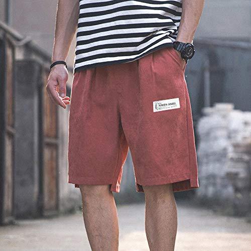 B/H Shorts de Corte Slim Hombre Bañador de Natación,Pantalones Cortos Deportivos para Hombres, Pantalones Cortos Deportivos de Secado rápido-Brick Red_L,bañador para Hombre Nautica