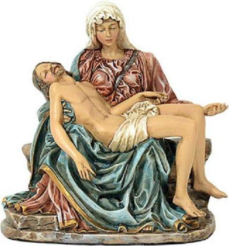 McDEKO Religiöse Figur Pieta nach Michelangelo ca. 14 x 13 cm aus Polyresin