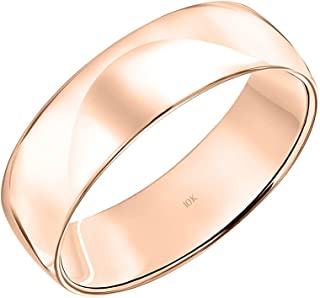 Sponsored Ad - Men's 10K or 14K Rose, White or Yellow Gold 6MM Classic Plain Simple Wedding Band by Brilliant Expressions