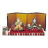 桃の節句を華やかに彩る雛人形。 九谷焼 3号雛人形 盛 N188-01 〈簡易梱包