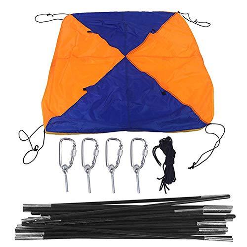 Tragbares Boot Zelt,Sonnenschutz Canopy Markise, Schlauchboot Sonnenschirm Segeln Markisendach,Aufblasbare Bootsfischerei Regenschirm Baldachin Kajak-Kit,3-Sitzer 295 X 137 X 43CM