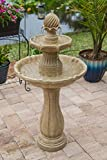 Kenroy Home 51009SNDST Frost Outdoor Tiered Solar Fountain, 44 Inch Height,...