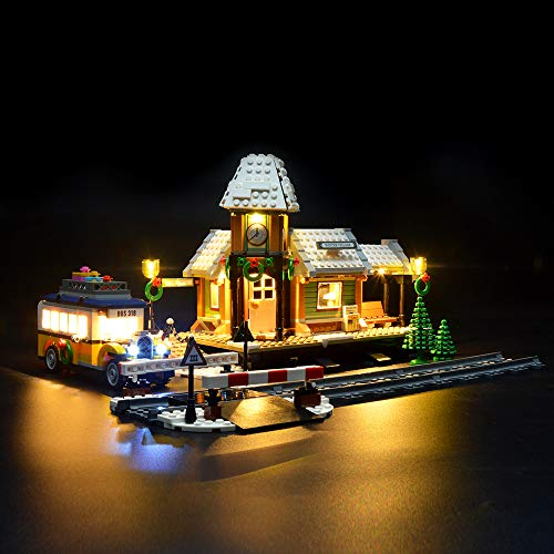 LIGHTAILING Licht-Set Für (Creator Expert Winterlicher Bahnhof) Modell - LED Licht-Set Kompatibel Mit Lego 10259(Modell Nicht Enthalten)