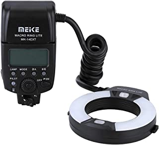 Meike iTTL TTL LED Macro Ring Flash Light for Nikon d3400 d5600 d5300 d3300 d3200 d3100 d5500 d5200 d5100 d7100 d750 d850 d7200 d500 d810 d7500 d5600 d5500 d7000 d3300 DSLR Camera with Hot Shoe Mount