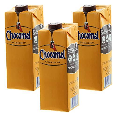 Chocomel Kakao Karton, 3er Set, Trinkschokolade, Holland Schoko, Trink Schokolade, 1 L