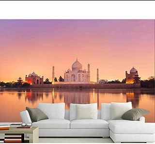Taj Mahal India Evening Mosque Photo 3D Wallpaper Mural,Living Room Sofa TV Wall Bedroom Wall Papers Home Decor MRQXDP Papel de Parede