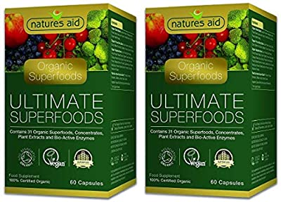 Natures Aid Organic Ultimate Superfoods 60 Veg Caps (Pack of 2)