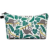 Makeup bag Cosmetic Bag Organizer Small Mini Makeup Pouch for Purse for Women Girls Gift (Sloth)