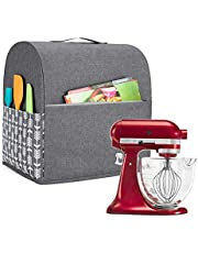 Yarwo Stand Mixer Cover, beschermende stofkap met bovenste handgreep en zakken voor 4,3-7,6 liter standmixer en accessoires