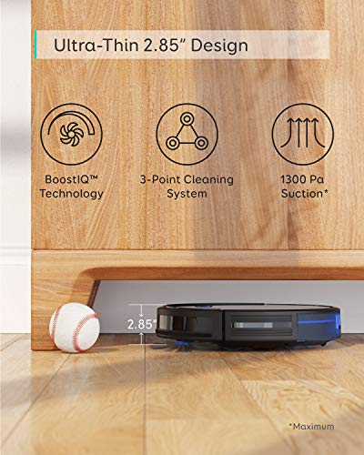 eufy BoostIQ RoboVac 15C, Wi-Fi, Upgraded, Super-Thin, 1300Pa Strong Suction, Quiet, Self-Charging Robotic Vacuum Cleaner, Cleans Hard Floors to Medium-Pile Carpets