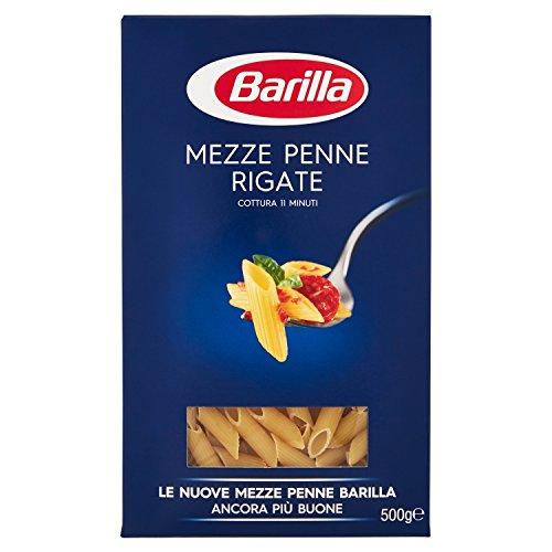 Barilla Pasta Mezze Penne Rigate, Pasta Corta di Semola di Grano Duro, I Classici - 500gr