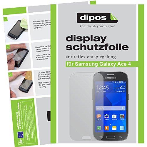 dipos I 6X Schutzfolie matt kompatibel mit Samsung Galaxy Ace 4 Folie Bildschirmschutzfolie