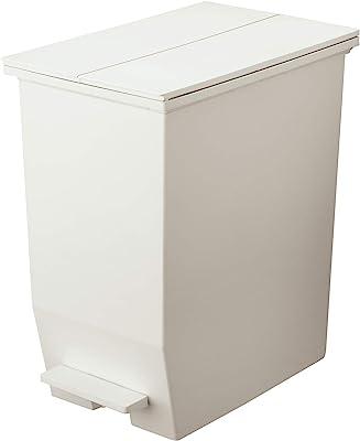 リス フタ付きゴミ箱 ソロウ ペダルオープンツイン 45L ホワイト 日本製 177463