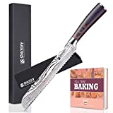 Best Bread Knives - 8 inch Serrated Bread Knife, SPACEIFY Ultra Sharp Review