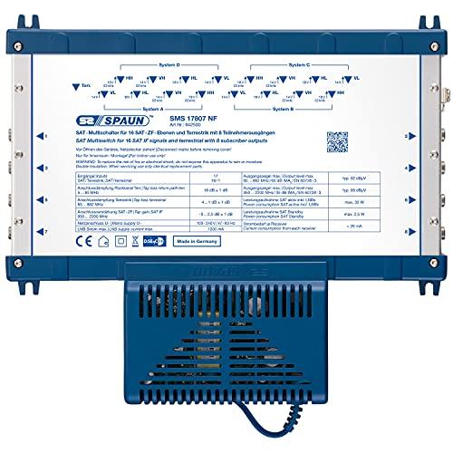 Spaun SMS 17807 NF - Multiswitch para equipos por satélite, azul