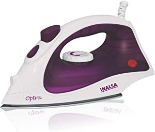 INALSA Steam Iron Optra-1400W with 18g/min Continuous Steam & Ceramic Coated Soleplate | Spray Function, 150ml Water-Tank ...