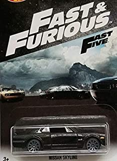 Hot Wheels Fast and Furious 2018 Series Black Nissan Skyline DIE-CAST Exclusive, F&F Nissan
