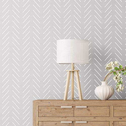 """STENCILIT® Herringbone Simple Large Wall Stencil For Painting - XL 24""""x 40"""" - Diy Geometric All Over Paint Stencils For Walls, Herringbone Wall Stencil"""