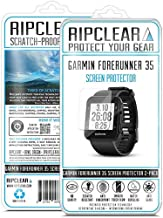 Ripclear Compatible with Garmin Forerunner 35 Smartwatch Screen Protector Kit - Military Grade Scratch-Resistant, All-Weather Protection, Crystal Clear - 2-Pack