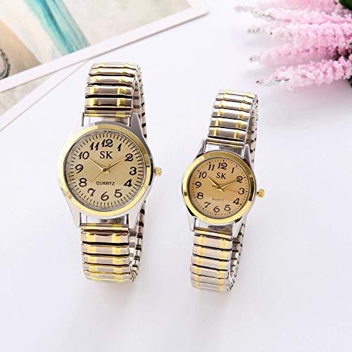 CMXUHUI A la moda y generoso, una buena opción para tu reloj de moda para mujeres de lujo de señoras relojes de cuarzo reloj masculino para parejas banda elástica reloj de desgaste diario regalos