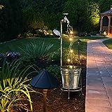 Milont – Garten Art Light Decor, Rasen Beleuchtung Blumenkasten Wasserhahn Solar-Dekoration Außen Kunst Dekoration für Garten Außen