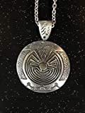 Native American Spirit pendant,Man in the Maze labyrinth necklace