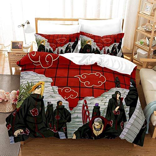 Armida Naruto Bedding Sets Full Anime Teen Boys Girls Duvet Cover Set Bedding Comforter Set No Comforter