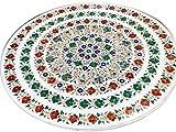 Gifts And Artefacts 121,9 cm weißer Tisch aus Marmor, einzigartiges Design, perfekte Ergänzung...