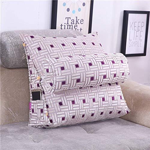 Zacht leeskussen, zacht gestoffeerd groot wigkussen, rugkussen, rugkussen, rustkussen, dagbed, slaapbank, bureaustoel small45*20 * 45Cm A-paars