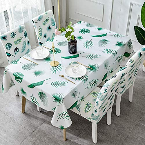XXDD Mantel Rectangular Grueso a Cuadros Estampado Floral Mantel Impermeable y a Prueba de Aceite Mantel de Cocina A6 150x210cm