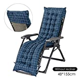 lā Vestmon Sun Lounger Cushion, Chair Seat Cushion with Non-Slip Hood Soft Comfortable Recliner Sofa Cushion Relaxer Chair Cushions Patio Recliner Cushion Pads for Garden Patio Vacation Relax