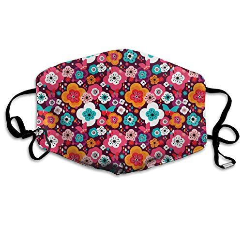 Bloem Power Vlinder Hippie Unisex Volledige Dekking Buis Gezicht Masker Bandanas UV Bescherming Hals Gaiter Hoofdband