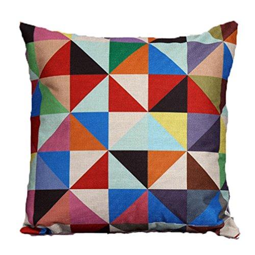 TMEOG Carré Housses De Coussin 45x45cm, Linge de Lin en Coton Canapé Décoration intérieure Design d'impression coloré Throw Pillow Case Cushion Cover