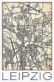 David Springmeyer: Retro Karte Leipzig Deutschland Grunge -