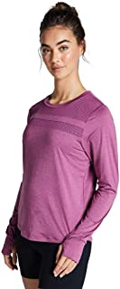 Rockwear Activewear Women's Ls Mesh Panel Top Rose 6 from Size 4-18 for