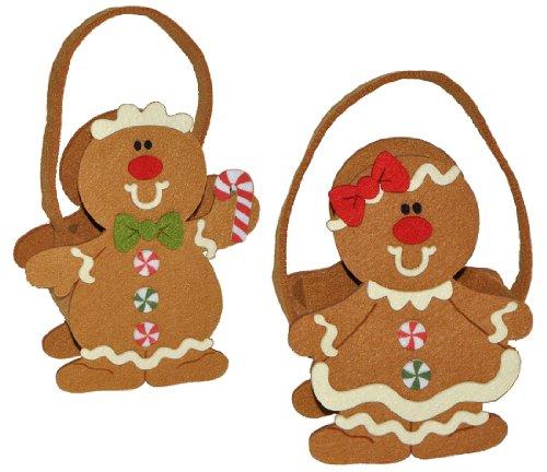 alles-meine.de GmbH Filztasche / Geschenktasche / Aufbewahrungsbox - Pfefferkuchen - Pfefferkuchenfrau ODER Pfefferkuchenmann für Weihnachten - Lebkuchen / Lebkuchenmann / Lebkuc..
