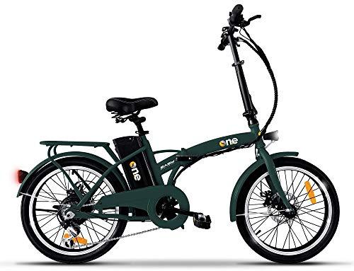 the one Bicicletta Elettrica Pieghevole A Pedalata Assistita 20' 250w Easy Forest Green, Verde Unisex adulto, no size