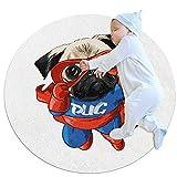 Alfombra de juego plegable para bebés, alfombra de juego para bebés Alfombra redonda Perro Corazón Globo Alfombra de juego suave para niños Alfombras seguras para bebés Alfombra para gatear para beb