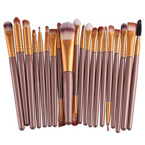 Oshide 20 Stück Professionelle Makeup Bürsten Kosmetik Set Foundation Powder Lidschatten...