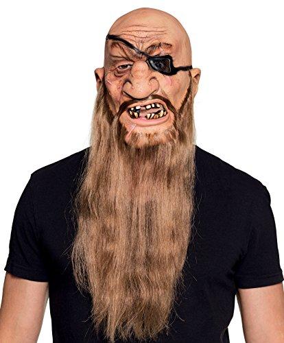 Boland 97564Horror de Látex Máscara pirata con barba, Rosa, talla única