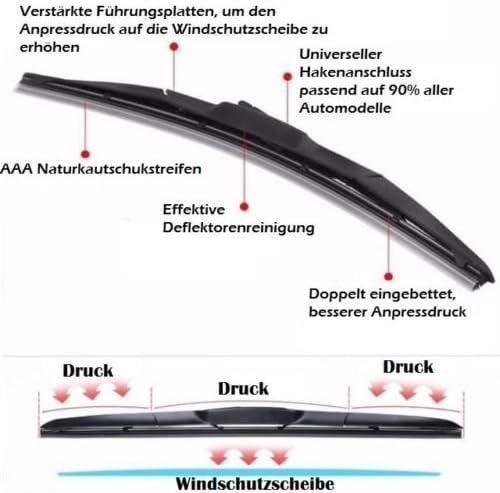 550 400 2x Wischergummi Scheibenwischer Gummis Ersatz Kompatibel Mit Bosch Aerotwin Scheibenwischer Inion 2x Ersatzgummi 550mm 400mm Auto
