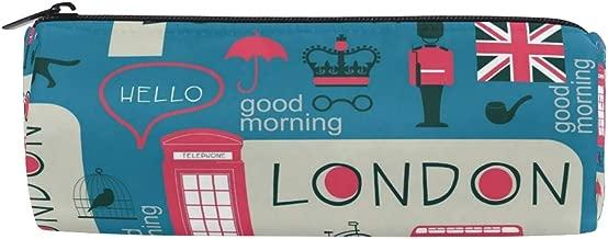 JOKERR Pencil Case London Uk Flag Pencil Bag Pen Zipper Bag Pouch Organiser Makeup Brush Bag for Girls Kids School Student Stationery Office Supplies