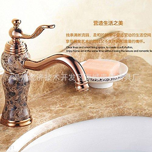 Maifeini Continental Comercio Exterior _ Grifo de lavabo de cobre chapado en oro caliente y frío el siguiente grifo de lavabo