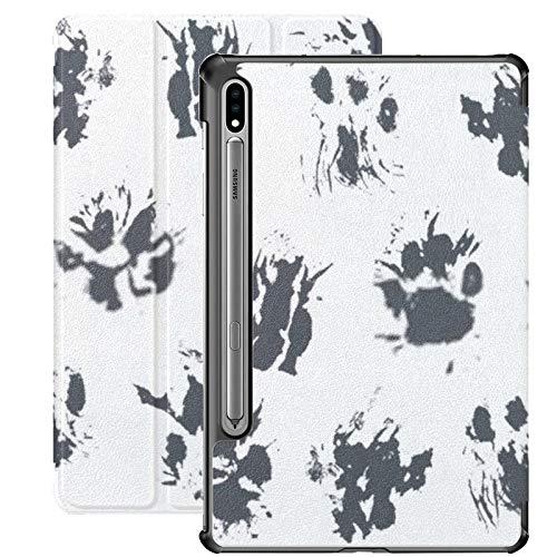 Funda para Samsung Galaxy S7 con Soporte para bolígrafo S Patrón Abstracto sin Costuras con Impresiones de Tinta Negra Funda de Cuero PU para Samsung Galaxy Tab S7 de 11 Pulgadas 2020, Funda para Sam